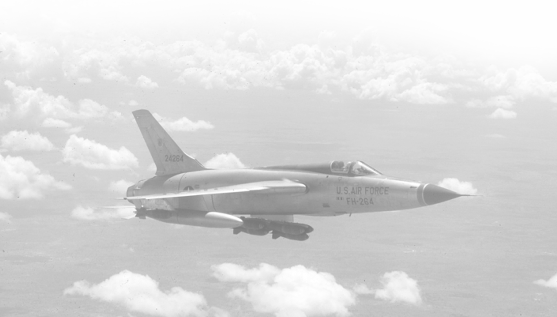 archival photo F-105 flying