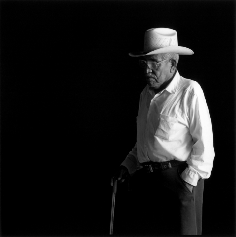 Mexico - farm worker old man with cane