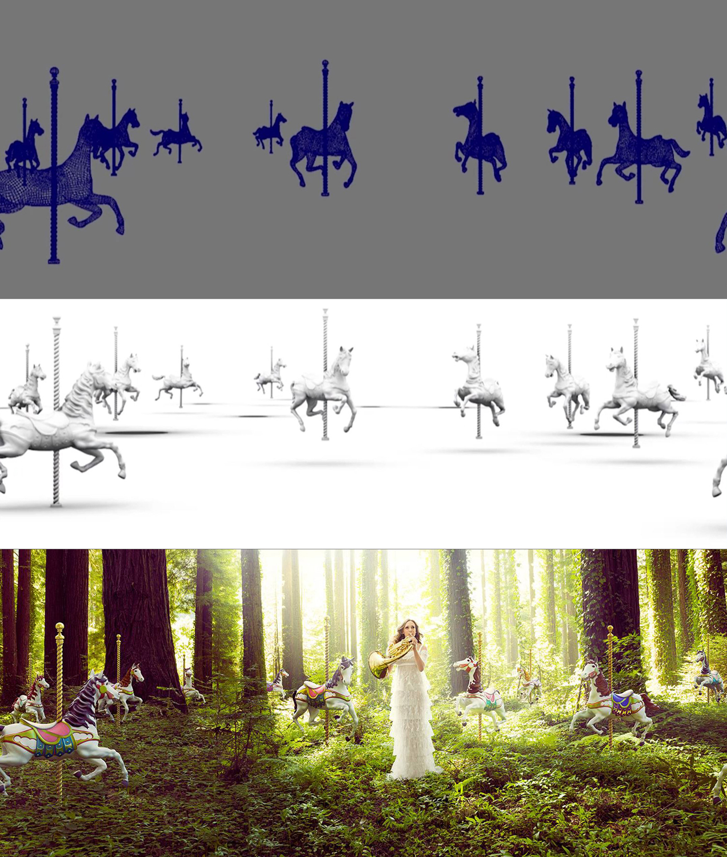 NY Philharmonic - carousel composite process