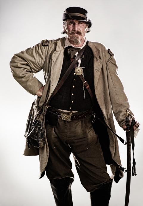 Civil War Reenactors - confederate man