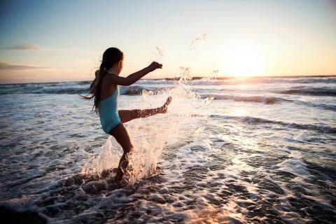Kicking Water - Girl