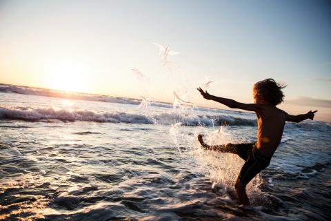 Kicking Water - Boy
