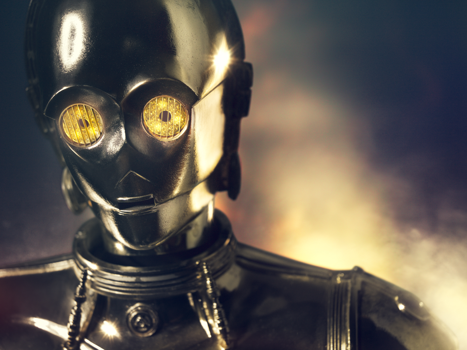 C3PO Face Close-up