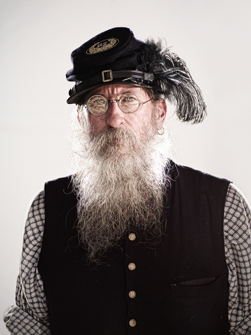 Civil War Reenactors - union man with glasses