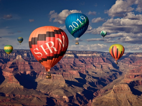 Promotional image for SHRM19. Society for Human Resource Management Annual Conference 2019 in Las Vegas Nevada