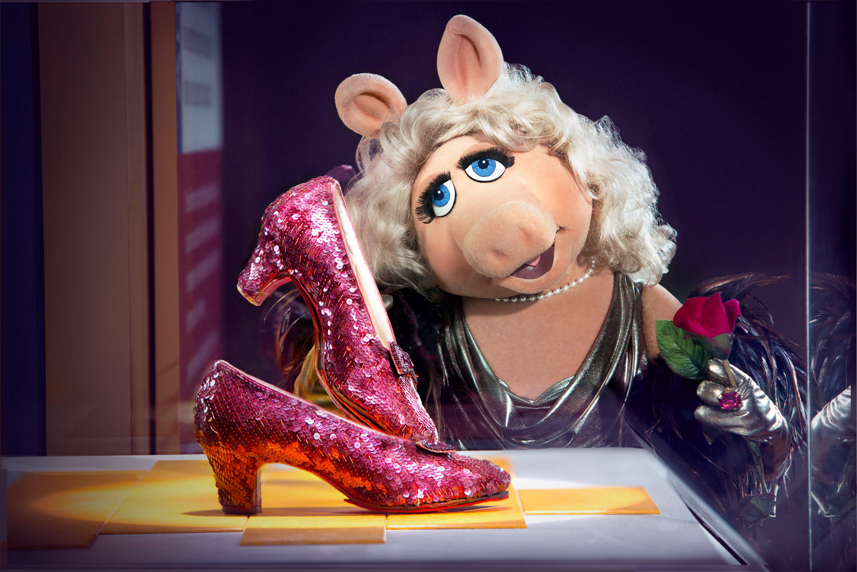 Piggy Ruby Slippers