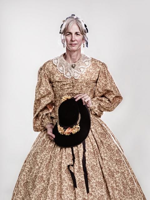 Civil War Reenactors - woman